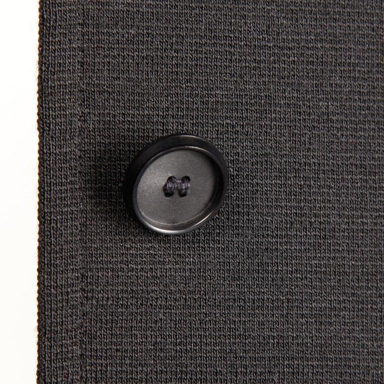 Rare 1970s Yves Saint Laurent YSL Vintage Long Black Wool Maxi Vest or Dress For Sale 1