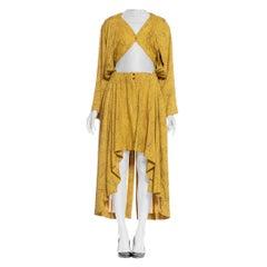 Rare 1980's Alaia Rayon Bra Top Shirt Dress
