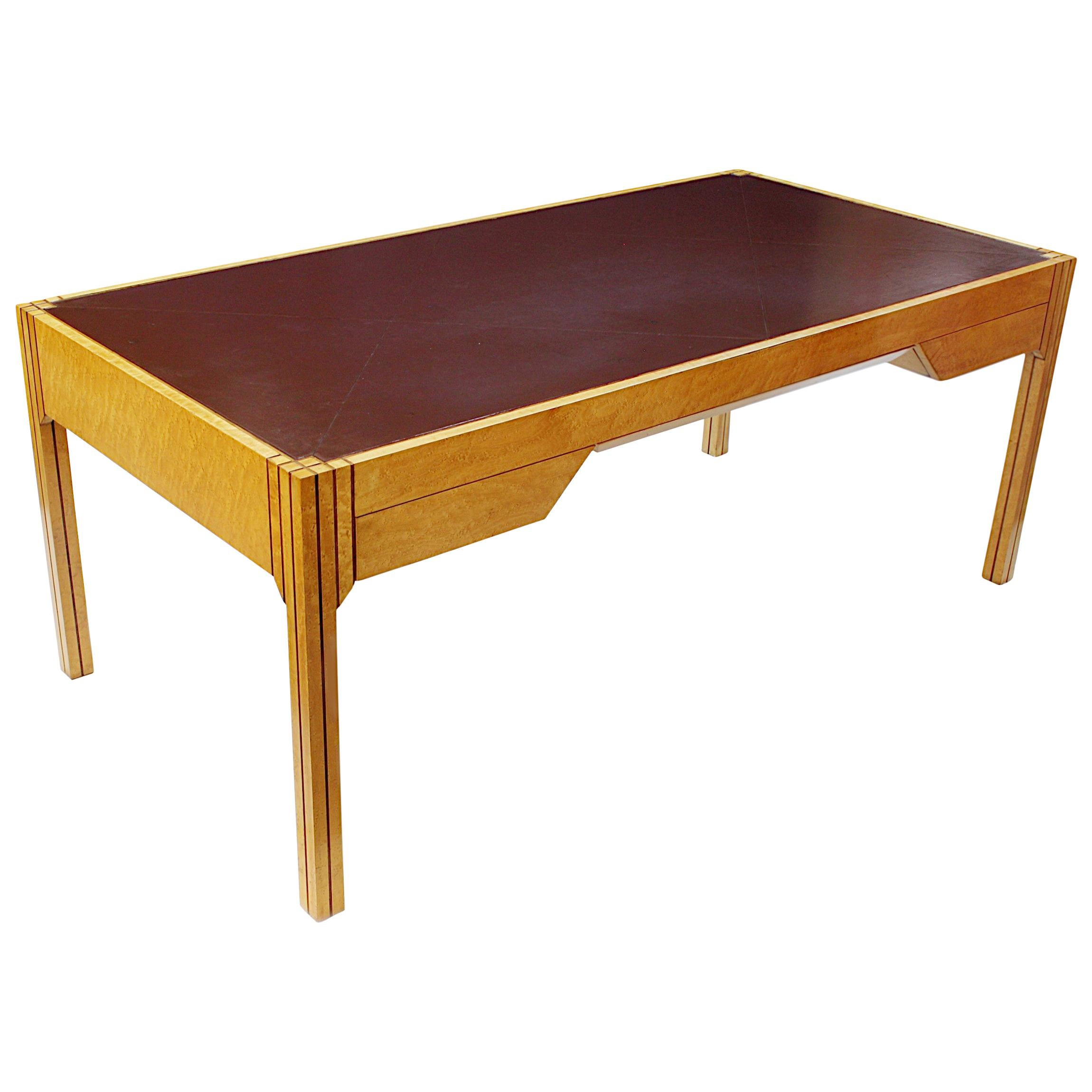 Rare 1980s Mid Century Art Deco Executive Table Desk by Pierre Paulin for Baker