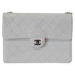 6c2f30ff9135 Rare 1990s Chanel White Goatskin Quilted Shoulder Bag