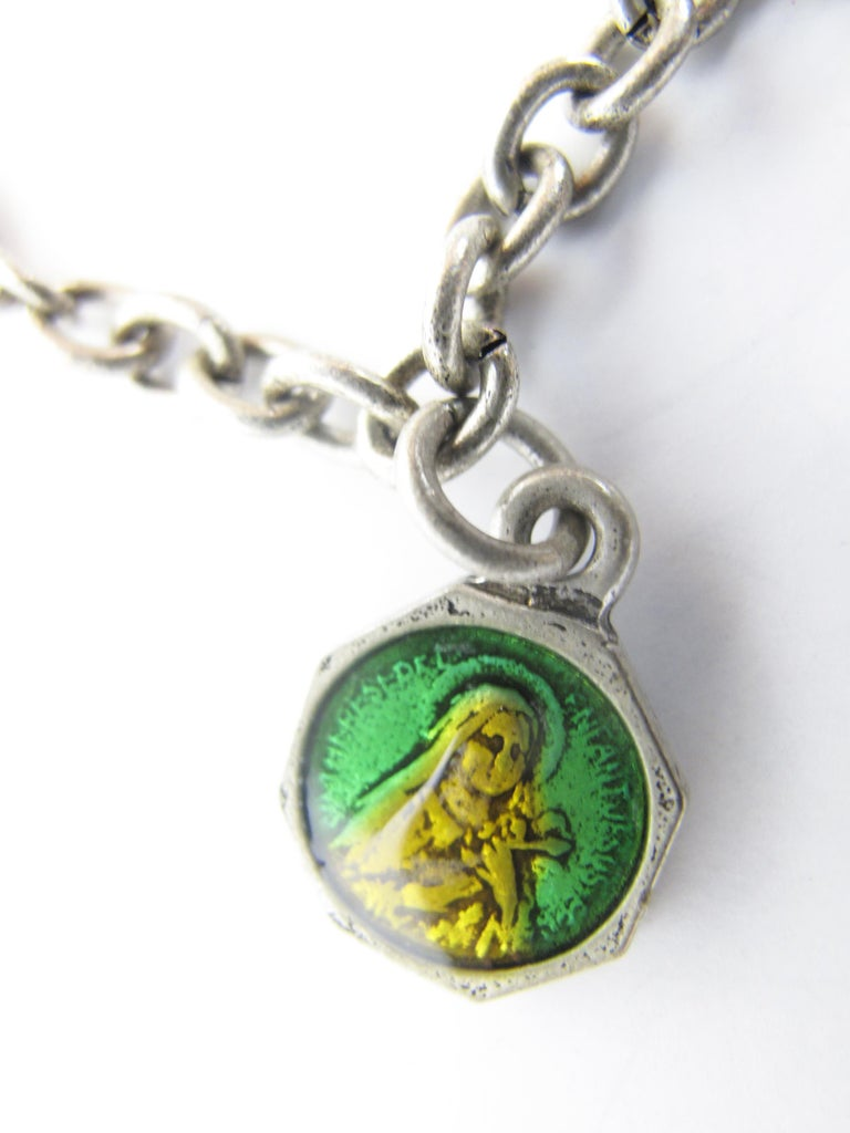 Women's or Men's Rare 1990s Jean Paul Gaultier Charm Bracelet For Sale
