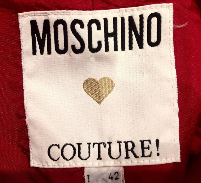 Rare 1990s Moschino Couture Tie Dress In Excellent Condition For Sale In London, GB