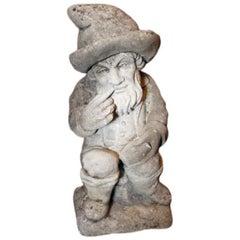 Rare, 19th c., Italian Limestone Gnome