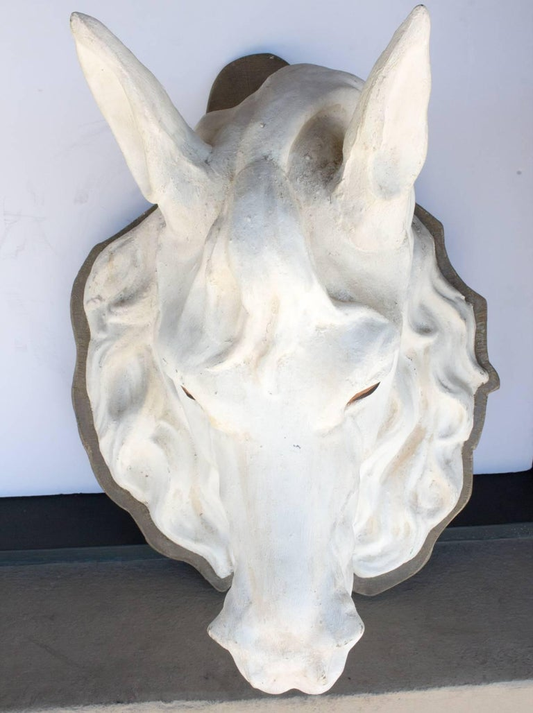Rare 19th Century Zinc Horse Head Trade Sign Found in Paris, France In Excellent Condition For Sale In Houston, TX