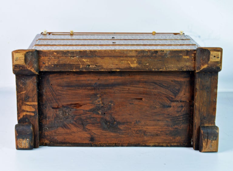 Rare 19th Century Anglo-Indian Bone Inlaid Miniature Slant Front Desk For Sale 10