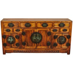 Rare 19th Century Chinese Elm Sideboard