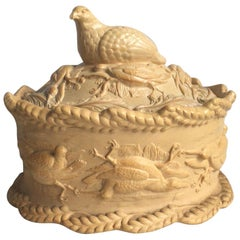 Rare 19th Century English Caneware Game Pie, circa 1830