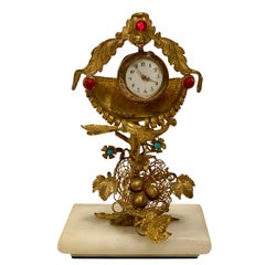 Rare 19th Century French Antique Peacock's Nest Pocket Watch Holder Porte Montre