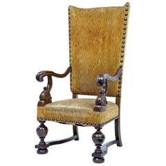 Rare 19th Century French Oak Throne Armchair