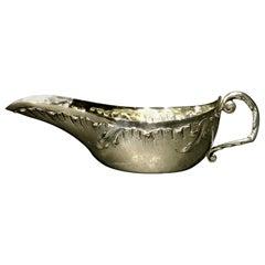 A Rare 19th Century French Silver (.950 fine) Pap Boat, Paris Circa 1890