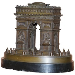 Rare 19th Century Leblanc Freres Grand Tour Bronze Statue of the Arc De Triomph