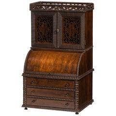 Rare 19th Century, Miniature Cylinder Cabinet