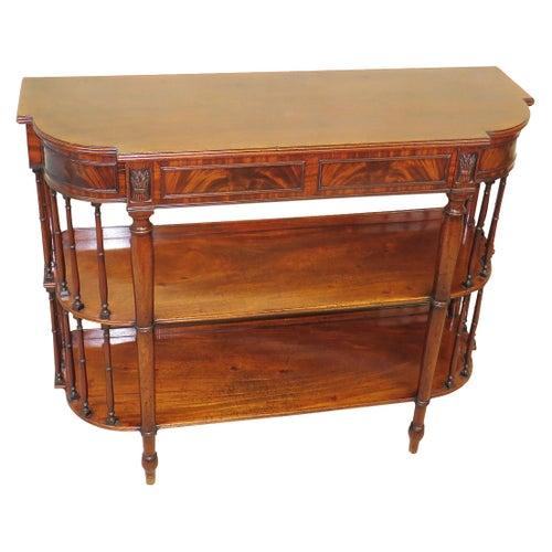 Rare 19th Century Regency Mahogany Console Table