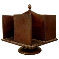 Rare 19th Century Rotating Table Top Library