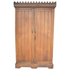 Rare 19th Century Solid Camphor Wood Cabinet from Lazarus of Calcutta