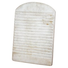 Rare 19th Century Spanish Solid Marble Wash Board for Washing Clothes Old Way