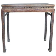 19th Century Tall Chinese Altar Table