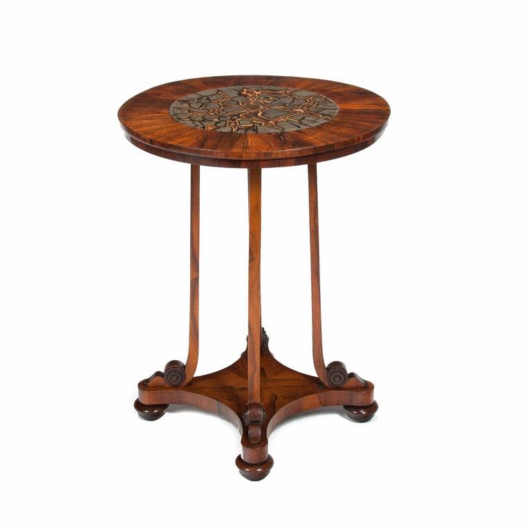 Rare 19th Century William IV Turtle Stone Marble Top Specimen Table For Sale 6