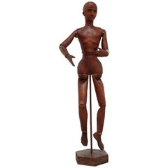 Rare 19th Century Wooden Articulated Mannequin
