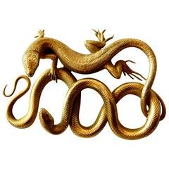 Rare 19th Century Empire Animalistic Golden Bronze