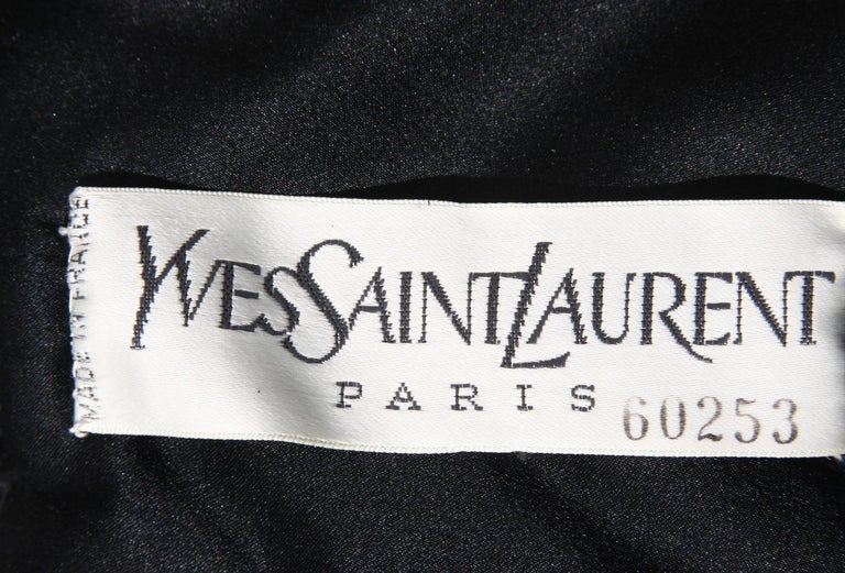 Rare 2 in 1 Yves Saint Laurent Couture Crushed Velvet Numbered Dress c. 1986 For Sale 10