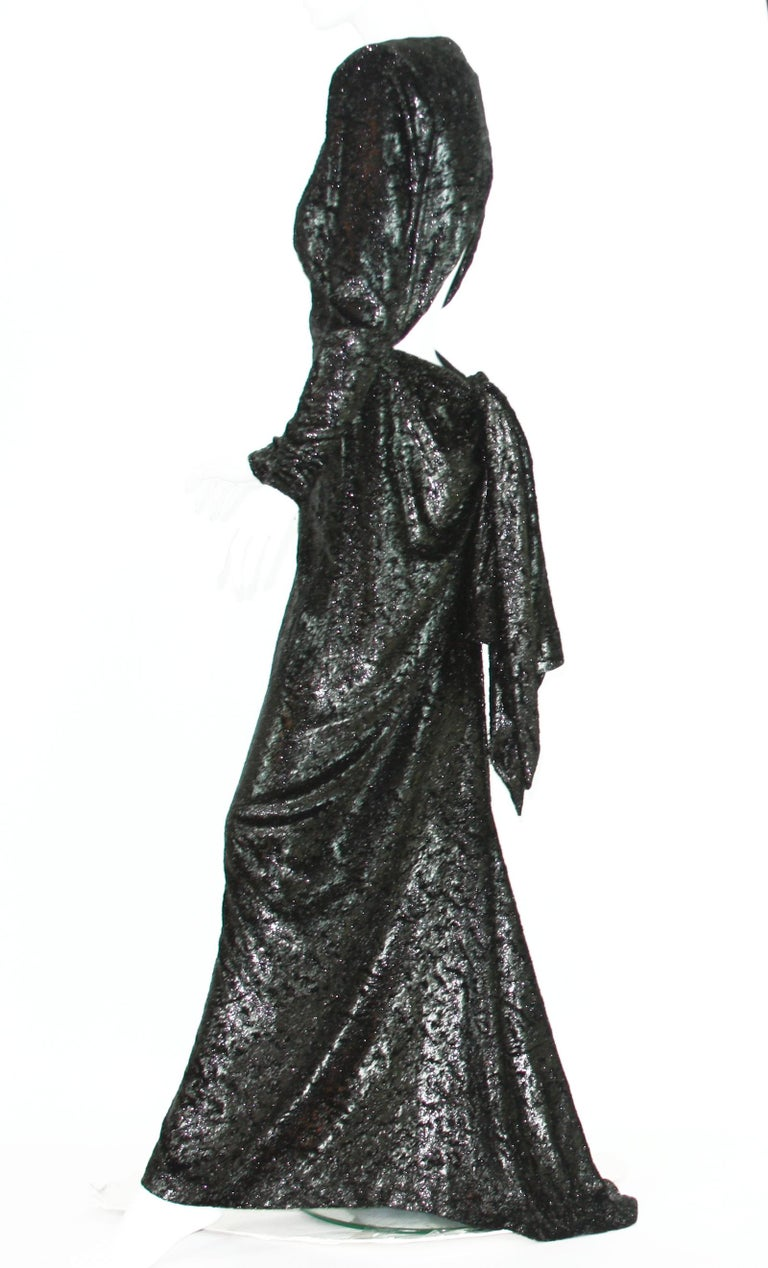 Rare 2 in 1 Yves Saint Laurent Couture Crushed Velvet Numbered Dress c. 1986 For Sale 3