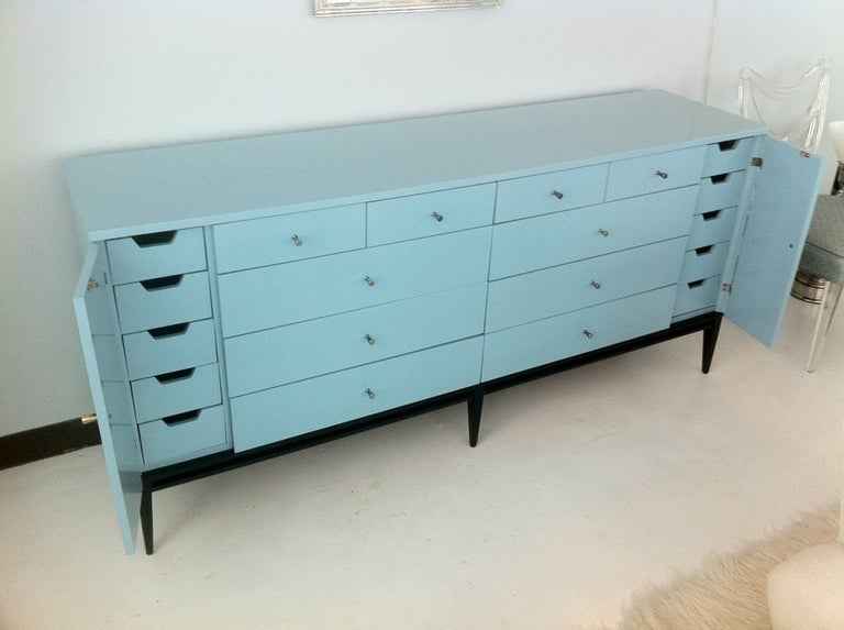 Mid-Century Modern Rare 20 Drawer Lacquered Commode by Paul McCobb #1510 For Sale