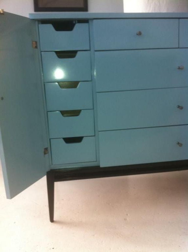 American Rare 20 Drawer Lacquered Commode by Paul McCobb #1510 For Sale