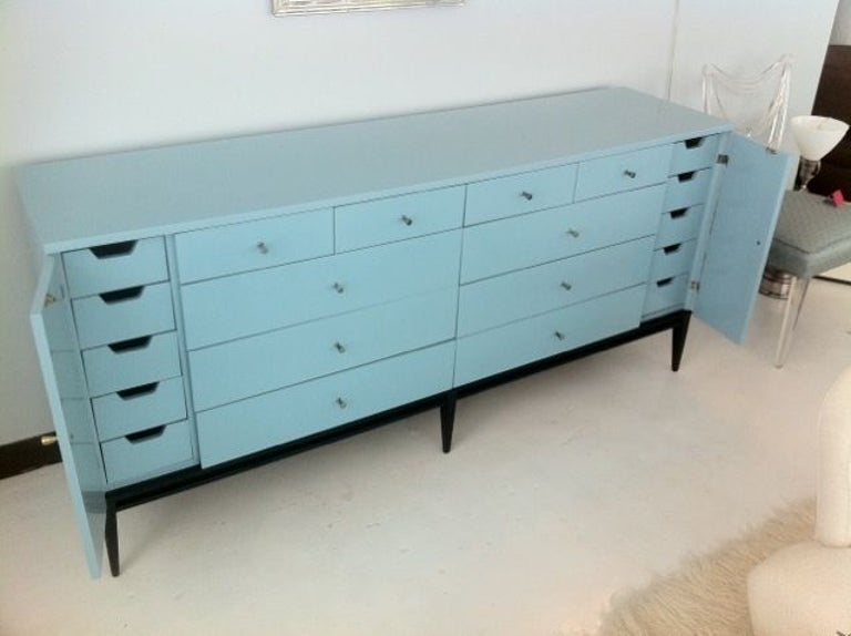 Mid-20th Century Rare 20 Drawer Lacquered Commode by Paul McCobb #1510 For Sale