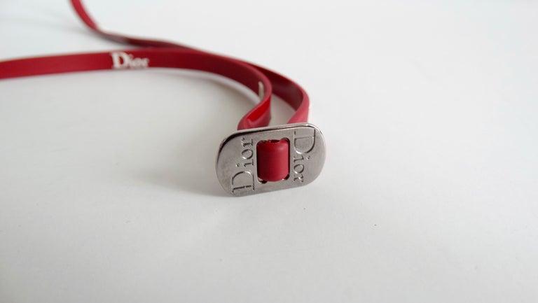 Christian Dior 2000s Cherry Red Ski Sport Sunglasses For Sale 5