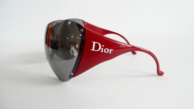 Christian Dior 2000s Cherry Red Ski Sport Sunglasses For Sale 6