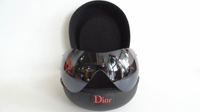 Women's or Men's Christian Dior 2000s Cherry Red Ski Sport Sunglasses For Sale