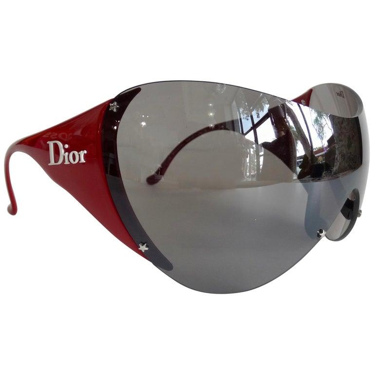 Christian Dior 2000s Cherry Red Ski Sport Sunglasses For Sale