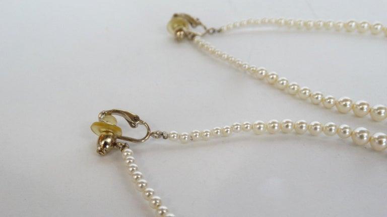 Rare 2014 Chanel Fall Pearl Hoop Earrings  For Sale 3