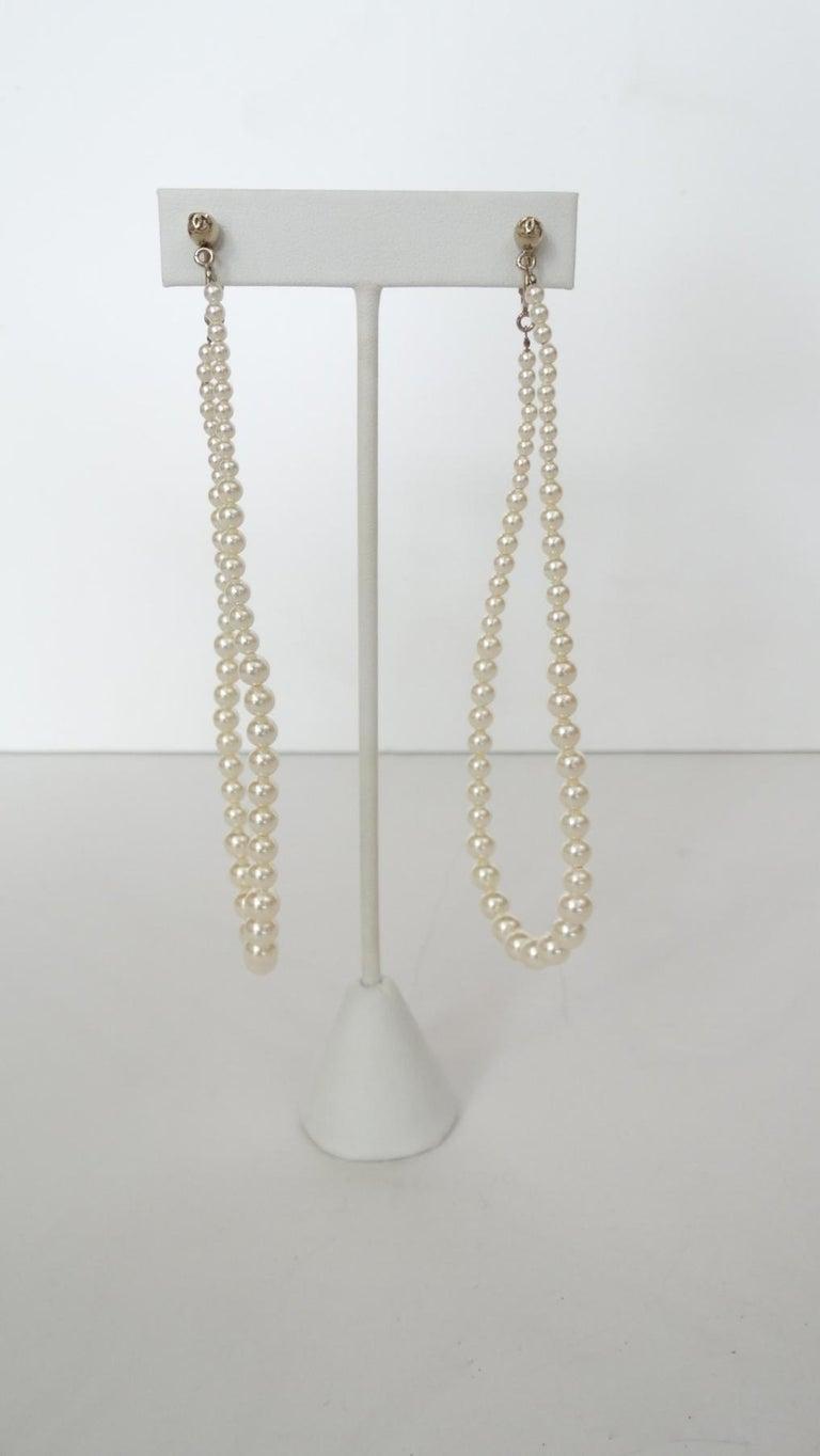 Rare 2014 Chanel Fall Pearl Hoop Earrings  For Sale 4