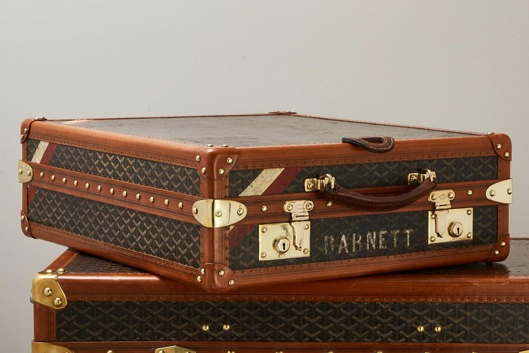 20th Century Vintage Goyard Luggage Trunk Circa 1920 In Good Condition For Sale In London, GB