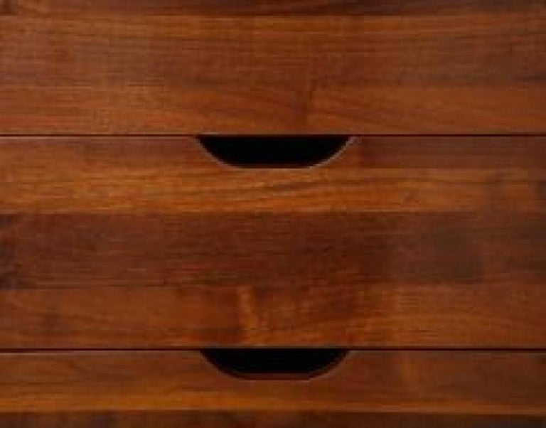 Walnut Rare 3-Door Cabinet Designed by Gio Ponti, for M. Singer & Sons For Sale