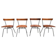 Rare 4 Midcentury Paul McCobb Planner Group Dining Chairs #1535 Maple Iron