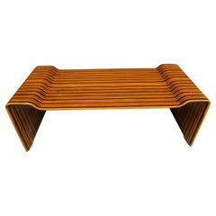 Rare 5-Wood Coffee Table by Joaquim Tenreiro