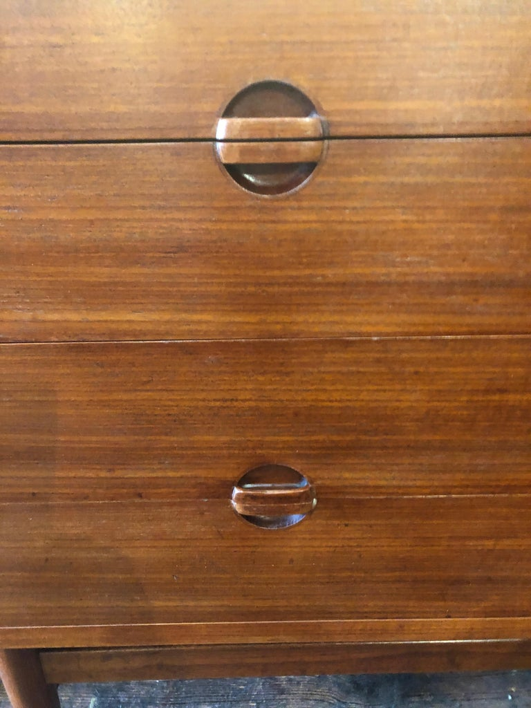 Rare 8 Drawer Teak Danish Mid-Century Modern Chest of Drawers by Erik Worts In Excellent Condition For Sale In Hopewell, NJ