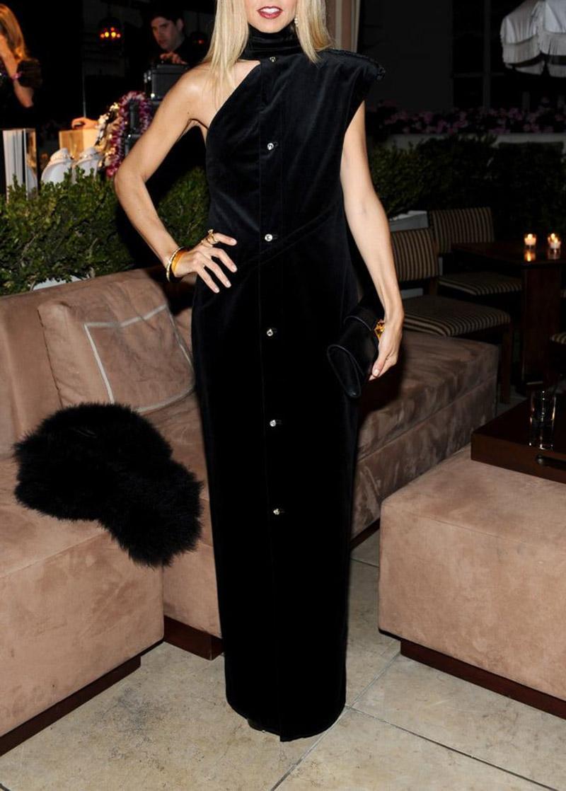 Rare 90-s Vintage Gianni Versace Black Embellished