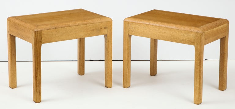Rare Adolphe Chanaux Waxed Oak Occasional Table For Sale 4