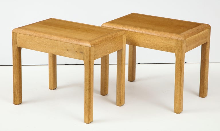Rare Adolphe Chanaux Waxed Oak Occasional Table For Sale 5