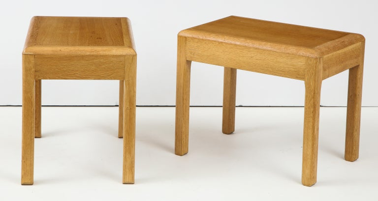 Rare Adolphe Chanaux Waxed Oak Occasional Table For Sale 6