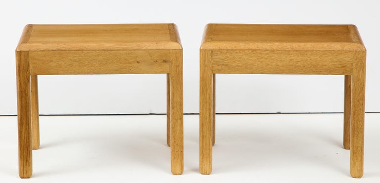 Rare Adolphe Chanaux Waxed Oak Occasional Table For Sale 7