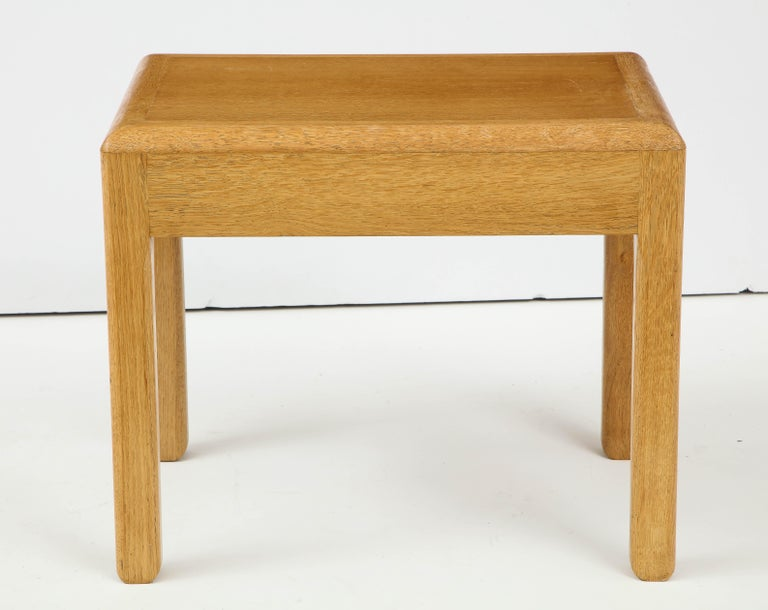 Modern Rare Adolphe Chanaux Waxed Oak Occasional Table For Sale