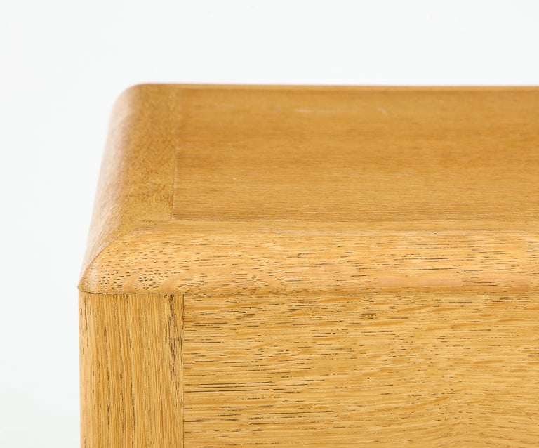 Rare Adolphe Chanaux Waxed Oak Occasional Table In Good Condition For Sale In New York City, NY