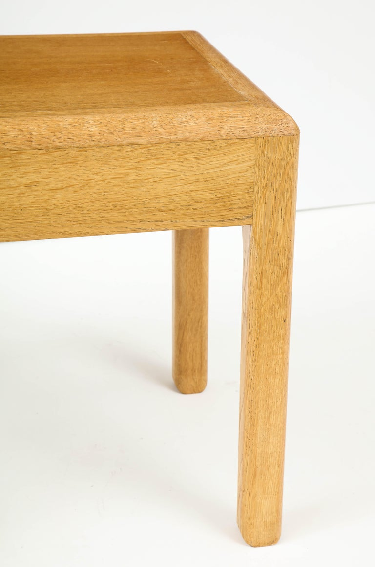 Mid-20th Century Rare Adolphe Chanaux Waxed Oak Occasional Table For Sale