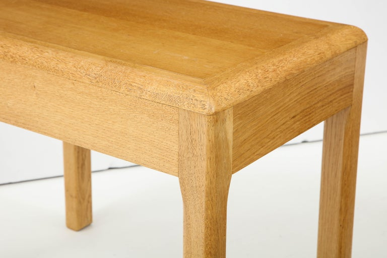 Rare Adolphe Chanaux Waxed Oak Occasional Table For Sale 1