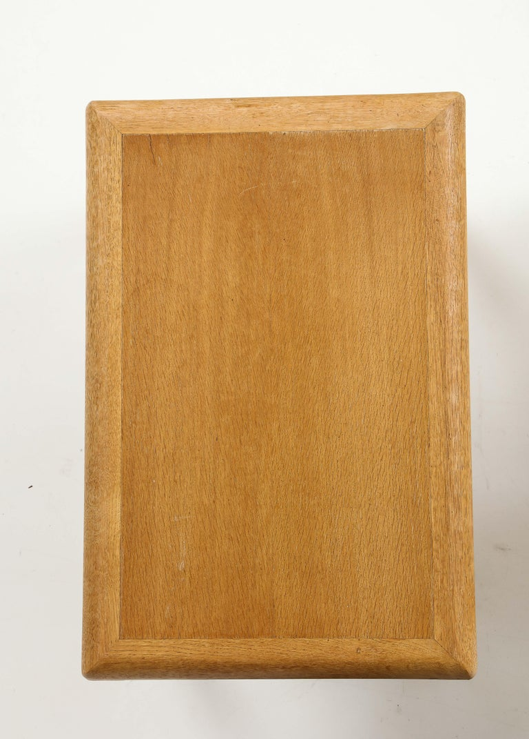 Rare Adolphe Chanaux Waxed Oak Occasional Table For Sale 2